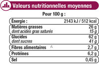 Assortiment biscuits Patissiers - Nutrition facts