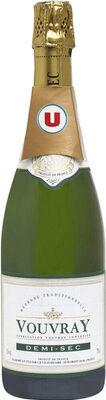 Vin blanc AOC Vouvray demi-sec - Produit - fr