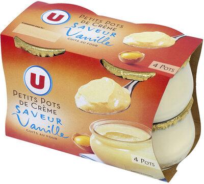 Petits pots de crème aux oeufs frais, desserts lactés saveur vanille - Product