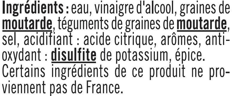 Moutarde à l'Ancienne - Ingrediënten - fr