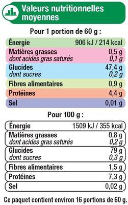 Riz long grain étuvé - Voedigswaarden