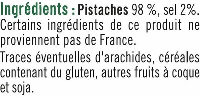 Pistache grillée à sec - Ingrediënten - fr