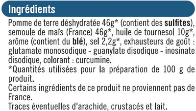 Biscuits apéritifs frite - Ingrédients - fr