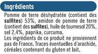Snacks pétales salés - Ingredients - fr