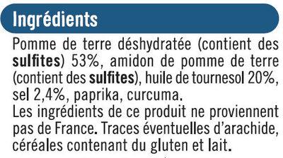 Snacks pétales salés - Ingrédients