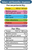Snacks pétales salés - Informations nutritionnelles - fr