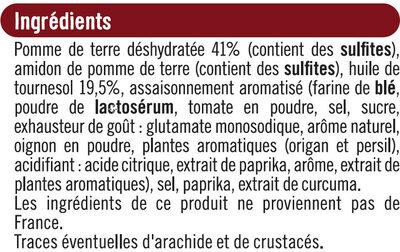 Snacks goût pizza - Ingredients