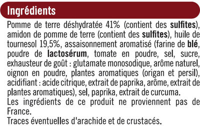 Snacks goût pizza - Ingredients - fr
