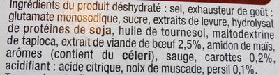 Bouillon de boeuf - Ingredients