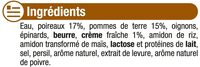 Velouté poireaux et pommes de terre - Ingrediënten