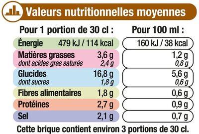 Velouté poireaux et pommes de terre - Voedingswaarden - fr