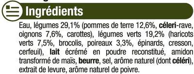 Mouliné légumes verts - Ingrediënten