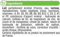 Croissance 10 mois à 3 ans tous petits - Ingrédients - fr