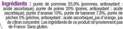Bols pomme multifruits 6 mois - Ingrediënten
