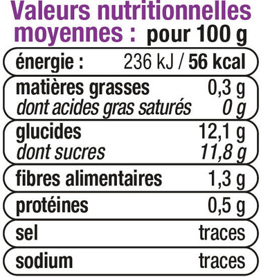 Bols pomme multifruits 6 mois - Voedingswaarden - fr