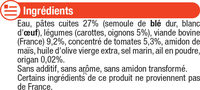 Assiette spaghetti bolognaise - Inhaltsstoffe - fr