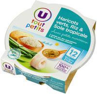 Assiette haricots verts, riz et sole tropicale - Produkt - fr