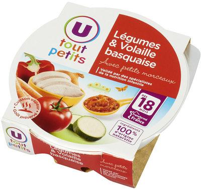 Assiette légumes et volaille basquaise - Produkt - fr