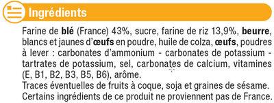 Biscuits pour bébé - Ingredients