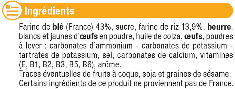 Biscuits pour bébé - Ingrédients - fr