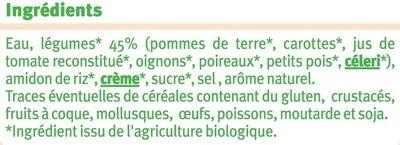 Velouté 7 légumes bio - Ingrédients