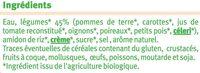 Velouté 7 légumes bio - Ingrédients - fr