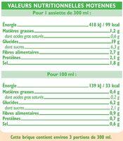 Velouté 7 légumes bio - Informations nutritionnelles - fr