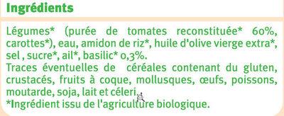 Velouté tomates + basilic - Ingrediënten