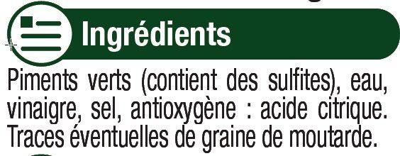 Piments verts au vinaigre - Ingredienti - fr