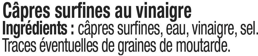 Capres surfines au vinaigre - Ingrédients - fr