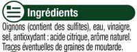 Oignons blancs au vinaigre - Ingrediënten
