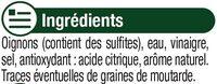 Oignons blancs au vinaigre - Ingrédients - fr