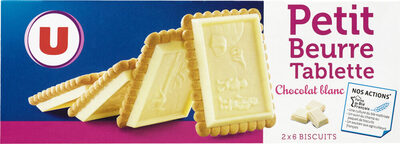 Petit beurre chocolat blanc - Product - fr