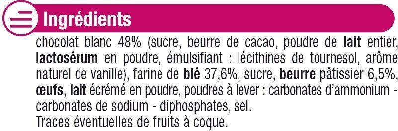 Petit beurre chocolat blanc - Ingrediënten - fr