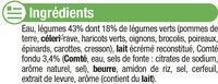 Velouté Légumes Verts et Comté - Ingredients - fr