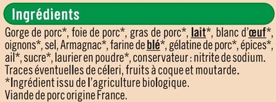 Terrine de campagne Bio - Ingrédients - fr