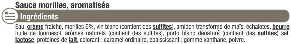 Sauce liquide aux morilles - Ingredients - fr