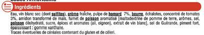 Sauce Liquide Armoricaine - Ingrédients - fr