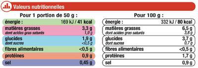 Sauce Liquide Armoricaine - Informations nutritionnelles - fr