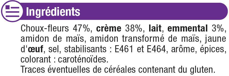 Mini gratins de choux fleurs - Ingredients