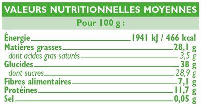 Mélange de fruits et de graine - Informations nutritionnelles - fr