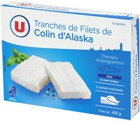 Tranches de filet de colin nature d'Alaska MSC - Product
