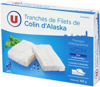 Tranches de filet de colin nature d'Alaska MSC - Product - fr