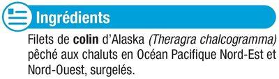 Tranches de filet de colin nature d'Alaska MSC - Ingrediënten - fr