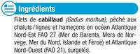Tranches de filet de cabillaud nature - Ingrediënten - fr