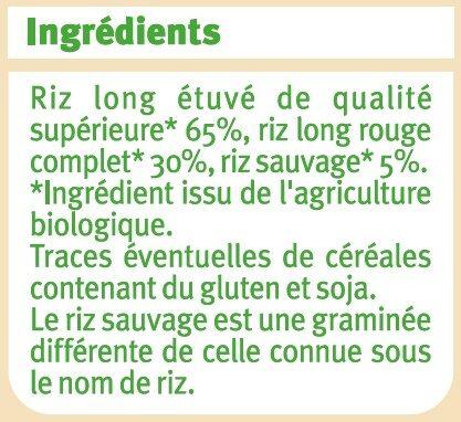 Trio de riz - Ingrediënten - fr