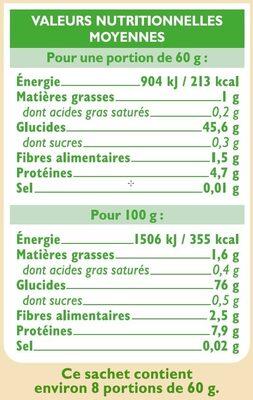 Trio de riz - Voedingswaarden - fr