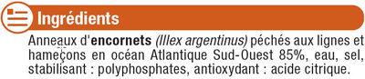 Anneaux d'encornet - Ingredients