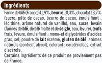 Pains au chocolat pur beurre - Ingrediënten