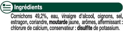 Cornichons extra-fins au vinaigre - Ingredients